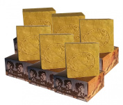 6 x CARIA Olive and Wild Pistacia Oil Soap Bar (Bittim) Castile Natural Traditional Turkey 780g