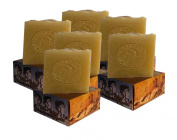 6 x CARIA Bubbly PURE and SIMPLE Soap Bar (sensitive skin) Fragrance Free Handmade Natural with Olive and Coconut Oil Vegan 660g