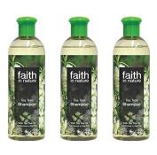 (3 PACK) - Faith Tea Tree Shampoo | 400ml | 3 PACK - SUPER SAVER - SAVE MONEY