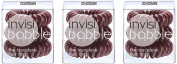 Invisibobble Chocolate Brown Pack of 3