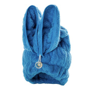 Bath Towel Hair Dry Hat Cap Hair Drying Towel Lady Bath Tool Rabbit Blue
