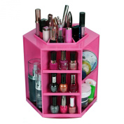 Discoball. 360 Degree Cosmetic Organiser Cleanup rotating Organiser Makeup box Brush Holder