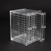 Discoball Clear Acrylic Earrings Holder 3 Panels Earring Display Jewellery Organiser - Holding Up To 120 Pairs Earrings Stud Storage