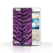 STUFF4 Phone Case / Cover for Huawei Ascend G6 4G / Purple Design / Tiger Animal Skin/Print Collection