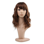 MelodySusie® Charming Mid-length Layered Loose Wave Hairstyle Wig with Bangs