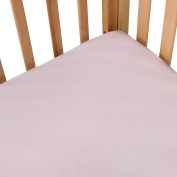 100% Cotton, Extra Deep Pockets Crib Sheet in Pink