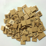 NMIT® Wooden Scrabble Tiles Full Set Of 100, scrabble letters for crafts, Board Games, Jewellery Making Kit