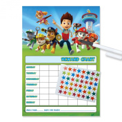 Paw Patrol Re-usable Reward Chart (including FREE Star Stickers and Pen) - P