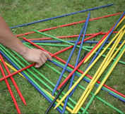 forestfoxTM Giant Pick Up Sticks Retro Game 25 Piece Solid Wood Garden Outdoor Family Fun