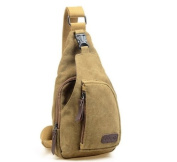 CuteMe® Men's Small Canvas Military Messenger Shoulder Travel Hiking Bag Backpack
