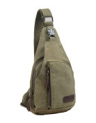 CuteMe Men's Small Canvas Military Messenger Shoulder Travel Hiking Bag Backpack