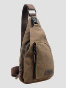 CuteMe® Men's Small Canvas Military Messenger Shoulder Travel Hiking Bag Backpack