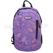 Jeep Ladies Mini Paisley Backpack School Bag