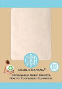 Charlie Banana Reusable Hemp Inserts for cloth nappies, SMALL, pack of 3