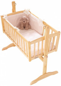 Clair de Lune Honeycomb Rocking Crib/ Cradle Quilt and Bumper Set