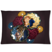 Custom Beauty and the Beast Pattern 03 Pillowcase Cushion Cover Design Standard Size 20X30 Two Sides