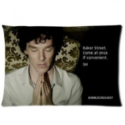 TV Series Sherlock Benedict Cumberbatch pillows case 20x30 (one side) printed Pillowcase decorate pillow cover
