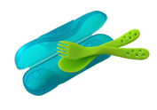 primamma 006311 Cutlery Box with Fork and Spoon Green / Blue