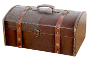 Leather Trunk, Designer Treasure Chest