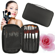 Discoball® Professional Beauty Cosmetics Make Up Brush Set Kit Non-woven fabrics Black Case hand Bag for travel