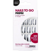 Salon System Nails to Go False Nails - Midnight Silver