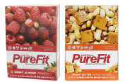 Pure Fit Nutritional Bar-Berry Almond Crunch/Peanut Butter Toffee Crunch-15 Bars of Each