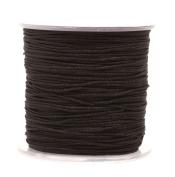 Mandala Crafts® 1mm Satin Nylon Macrame Cord, for Beading and Knotting, 100 Metres, 109 Yards