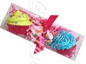 Mini Cupcake Bath Bombs Fruity Trio Gift Set by Feeling Smitten Bath Bakery