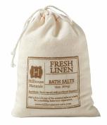 Hillhouse Naturals Fresh Linen Bath Salt in Drawstring Canvas Bag 470ml