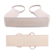 Beyoung(TM) Unisex Loofah Back Scrubber Exfoliating Strap Belt - 100% Natural High Quality Loofah and Body Scrubber