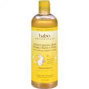 Babo Botanicals Baby Bubble Bath and Wash - Moisturising - Oatmilk - 440ml