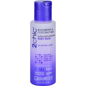 Giovanni Hair Care Products Body Wash - 2chic - Repairing - Ultra-Replenishing - Blackberry and Coconut Milk - 45ml