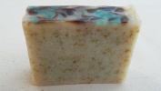 Tea Tree Cedar Wood 100% Natural Soap Bar Handmade in the USA with Therapeutic Grade Essential Oils and Organic Oatmeal Face Soap or Body Soap