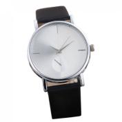 Orangesky Women's Fashion Design Dial Leather Band Analogue Quartz Wrist Watch