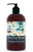 Coconut Hand Cream Lotion | 470ml | Natural Shea & Goats Milk | Rich Body Moisturiser for Dry Hands & Skin | Aromatherapy Lotions | Sparrow Naturals