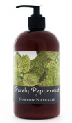 Peppermint Hand Cream Lotion | 470ml | Natural Shea & Goats Milk | Rich Body Moisturiser for Dry Hands & Skin | Aromatherapy Lotions | Sparrow Naturals