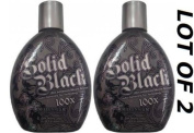 Lotions Hot New LOT of 2 NEW Solid Black 100x Bronzer Indoor Tanning Bed Lotion