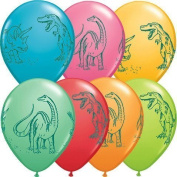3.4m Dinosaurs In Action Festive Colours Latex Balloons (50 per package) by natcha fon