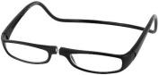 Clic Euro Single Vision Half Frame Designer Reading Glasses, Black, +2.00 by CliC