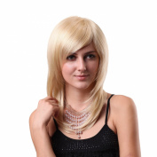 STfantasy 50cm Hot Blonde Hair Wigs Medium Straight Women Wig