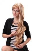 STfantasy 70cm Natural Looking Long Curly Wave Blonde Kanekalon Wig