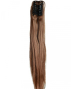 Light Brown Long Straight Claw Ponytails 50cm Clip on Ponytail Hair Extensions Hairpiece Pony Tail Extension for Girl Lady Women