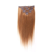 Pansy 60cm Clip in Hair Extensions Human Hair Colour Light Brown #12
