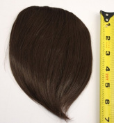 Short Clip on Bangs Synthetic Hair Accessory - Natural Black