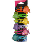 Lil Hauoli Kids Hair Snap Clips Set of 6 Spotted Fish