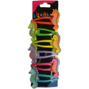Lil Hauoli Kids Hair Snap Clips Set of 6 Seahorse