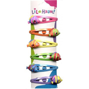 Lil Hauoli Kids Hair Snap Clips Set of 6 Bubble Fish