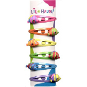 Lil Hauoli Kids Hair Snap Clips Set of 6 Mini Fish