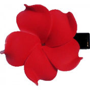 Foam Flower Medium Hair Clip Plumeria Red