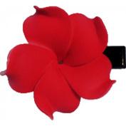 Foam Flower Medium Hair Clip Plumeria Red